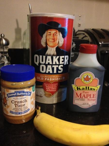 crunchy peanut butter banana maple oatmeal