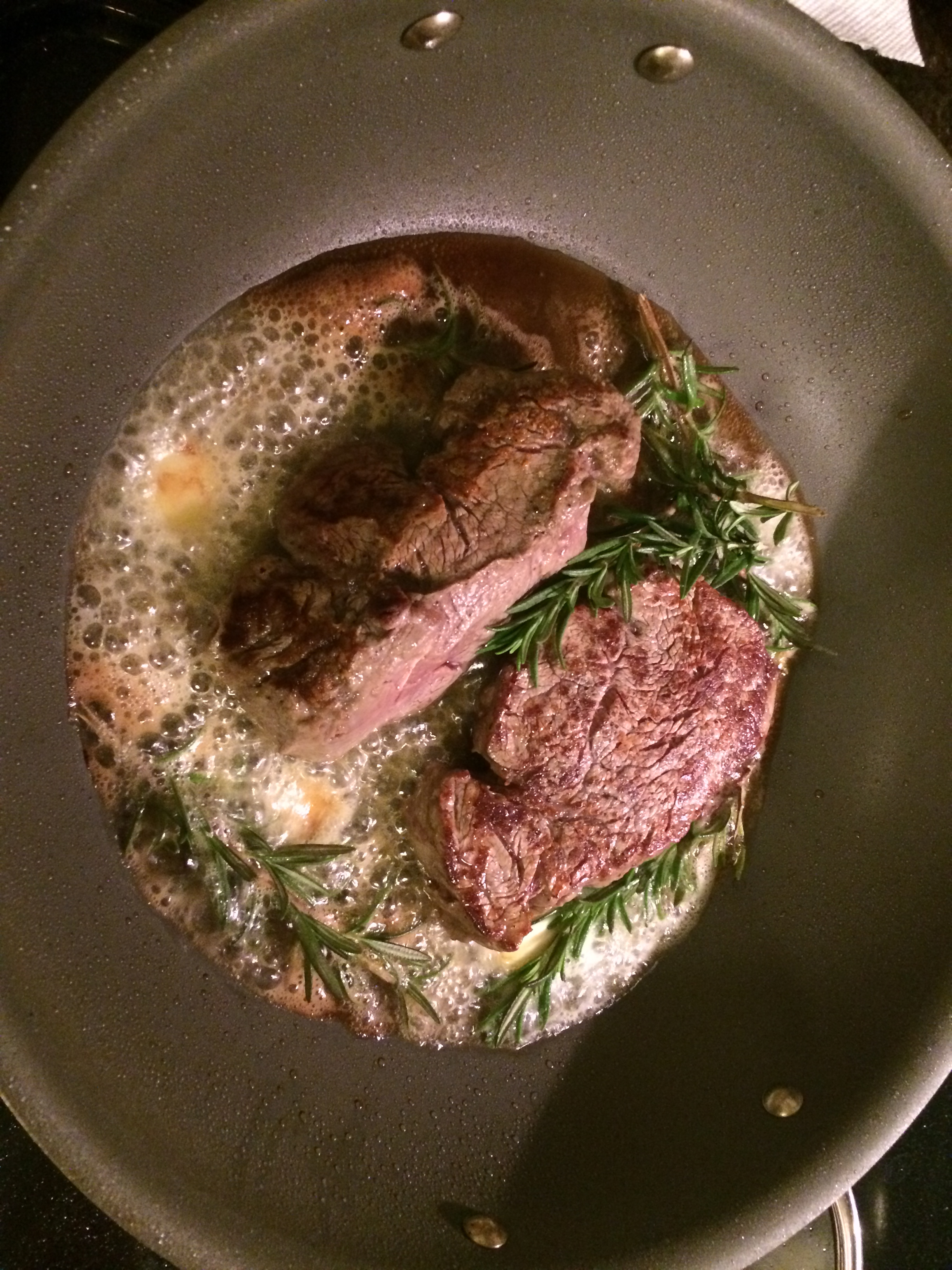 Filet Mignon With Rosemary And Browned Butter